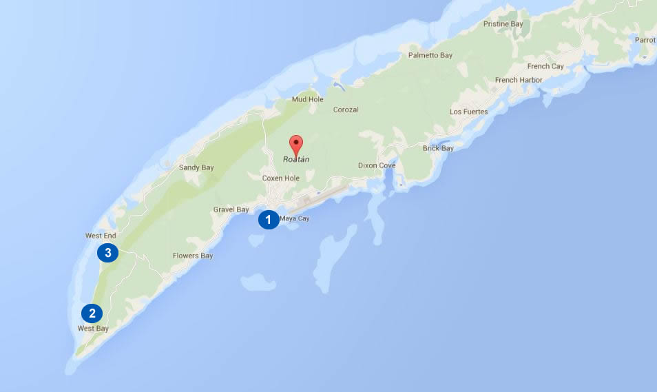 roatan-beaches-map